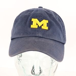 90s Nike Michigan Wolverines Strapback Hat Blue
